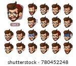 the third set of bearded... | Shutterstock .eps vector #780452248