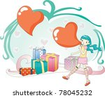 sweet valentine for you | Shutterstock .eps vector #78045232