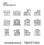home house building type... | Shutterstock .eps vector #780457483