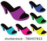 women summer slippers | Shutterstock .eps vector #780457813