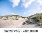 beach dunes on a scandinavian...   Shutterstock . vector #780458188
