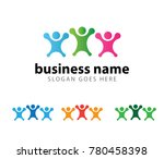 people community group dance... | Shutterstock .eps vector #780458398