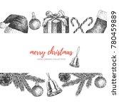 merry christmas illustration.    Shutterstock .eps vector #780459889