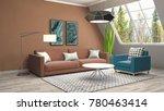 interior living room. 3d...   Shutterstock . vector #780463414