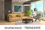 interior living room. 3d...   Shutterstock . vector #780463444