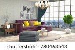 interior living room. 3d... | Shutterstock . vector #780463543
