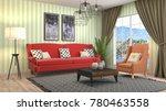 interior living room. 3d...   Shutterstock . vector #780463558