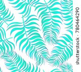 dark tropical pattern with... | Shutterstock .eps vector #780464290