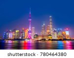 night scene skyscrapers and... | Shutterstock . vector #780464380