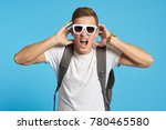 student wearing glasses on a... | Shutterstock . vector #780465580