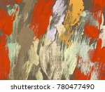 oil painting on canvas handmade.... | Shutterstock . vector #780477490