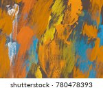 oil painting on canvas handmade.... | Shutterstock . vector #780478393