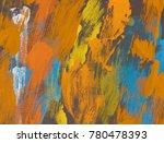 oil painting on canvas handmade.... | Shutterstock . vector #780478393