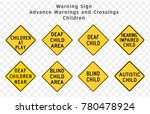 road sign. warning. advance... | Shutterstock .eps vector #780478924