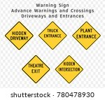 road sign. warning. advance... | Shutterstock .eps vector #780478930