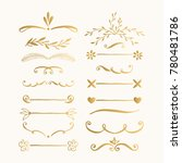 set of hand drawn lines and... | Shutterstock .eps vector #780481786