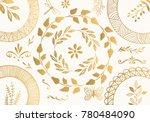 set of golden design elements.... | Shutterstock .eps vector #780484090