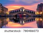 gondola near rialto bridge in... | Shutterstock . vector #780486073