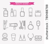 lady fashion accessories set ... | Shutterstock .eps vector #780488788
