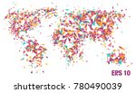 abstract world map background.... | Shutterstock .eps vector #780490039