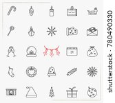 set of vector thin line icons... | Shutterstock .eps vector #780490330