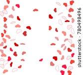 heart confetti beautifully... | Shutterstock .eps vector #780498496