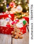 christmas gingerbread cookies | Shutterstock . vector #780499756