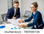 marketer or analityc manager...   Shutterstock . vector #780500728