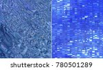 set 2 of blue creative abstract ... | Shutterstock . vector #780501289