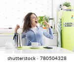 tired lazy woman having... | Shutterstock . vector #780504328