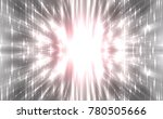 abstract grey fractal... | Shutterstock . vector #780505666