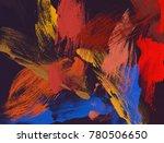 oil painting on canvas handmade.... | Shutterstock . vector #780506650