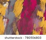 oil painting on canvas handmade.... | Shutterstock . vector #780506803