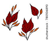 leaf icon illustration. doodle... | Shutterstock . vector #780506890