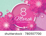 magenta paper cut flower. 8...   Shutterstock . vector #780507700