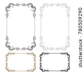 classical baroque vector set of ... | Shutterstock .eps vector #780509290