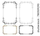 classical baroque vector set of ... | Shutterstock .eps vector #780509290
