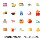 breakfast icon set | Shutterstock .eps vector #780510826