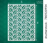 die cut ornamental panel with... | Shutterstock .eps vector #780520954