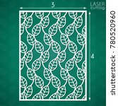 die cut ornamental panel with... | Shutterstock .eps vector #780520960
