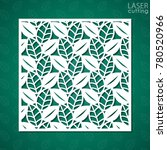 laser cut square ornamental... | Shutterstock .eps vector #780520966
