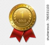 realistic 3d gold trophy award... | Shutterstock .eps vector #780531103