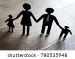 family with children as a... | Shutterstock . vector #780535948