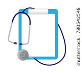 medical notepad  and a... | Shutterstock .eps vector #780542548