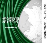 saudi arabia  flag of silk  and ... | Shutterstock . vector #780543520