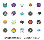 luna park icon set | Shutterstock .eps vector #780544510