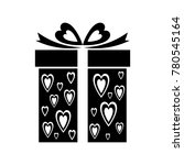 gift icon with heart pattern...