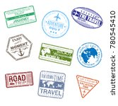 9 slogans about travel in the... | Shutterstock .eps vector #780545410