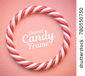 candy cane circle frame on... | Shutterstock .eps vector #780550750