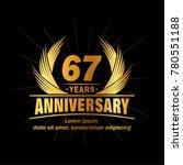 67 years design template....   Shutterstock .eps vector #780551188